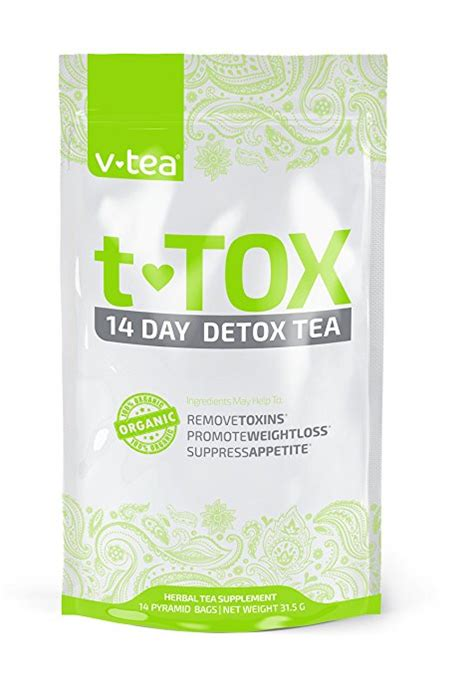 14 Day Detox by V Tea Teatox 14 Day Detox Tea Cleanse For Weight Loss