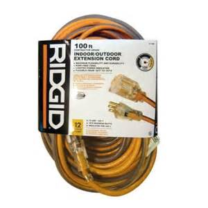 extension cords at home depot ridgid 100 ft 12 3 extension cord aw62621 the home depot
