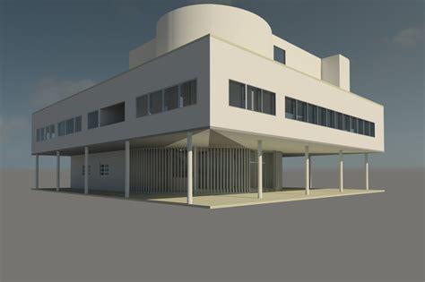 villa exterior 3d model 40 complete success clipgoo villa savoye 3d rvt