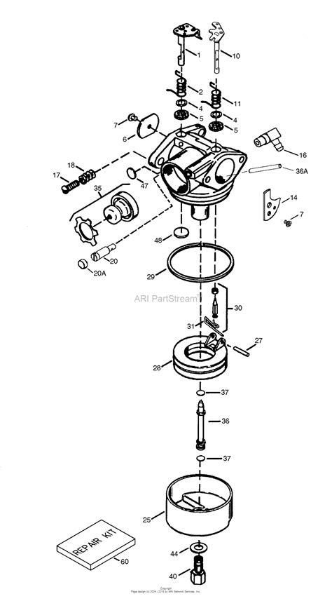 tecumseh engine carburetor diagram tecumseh tec 640307 parts diagram for carburetor