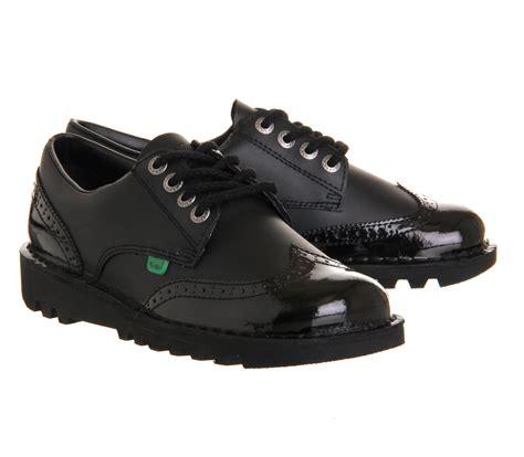 Sepatu Kickers Brogue Casual 2 kickers kick brogue black patent flats