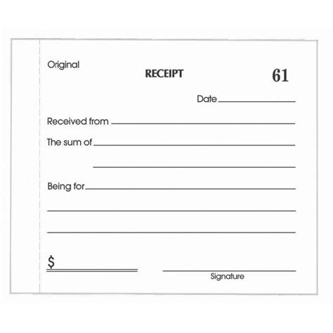 self business check receipt template olympic no 714 carbonless duplicate receipt book