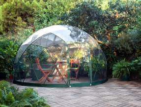 Backyard Yurt The Garden Igloo Is A Pop Up Geodesic Dome Perfect For Any