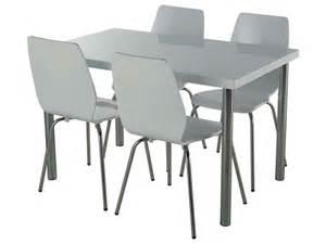 ensemble table 4 chaises bolton coloris laqu 233 blanc