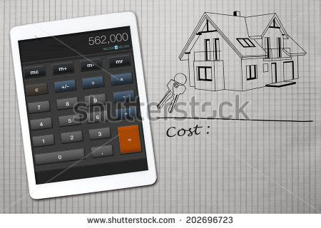 home building cost calculator home construction cost calculator stock photo 202696714