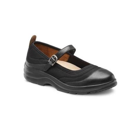 Comfortable Shoes For Hammer Toes by Dr Comfort Flute Lycra Black