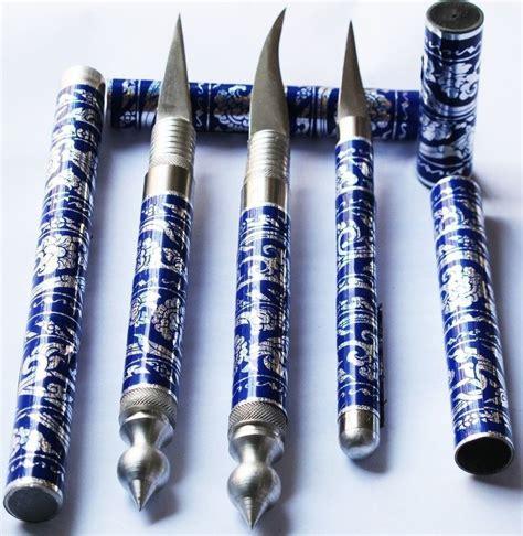 FRUIT CARVING KNIFE SET 3 PC THAI KNIVES BRASS HANDMADE