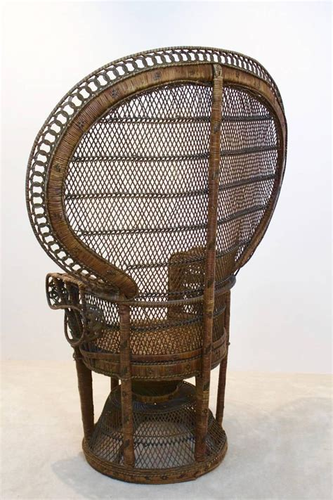 iconic rattan peacock chair 1970s at 1stdibs