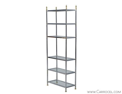 Etagere Glas by Neoclassical Chrome And Glass Etagere Carrocel