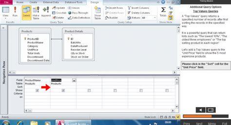 online tutorial builder access 2010 joining tables using the expression builder