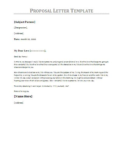 10 proposal letter sles printable word excel templates