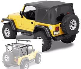 Jeep Soft Top Hardware Bestop Supertop Nx Soft Top Kit W Frame Hardware
