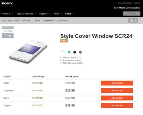 Style Cover Windows Scr24 Sony Xperia Z3 Black sony scr24 style cover window for xperia z3 now shipping xperia