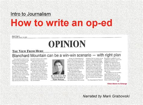 how to write an op ed