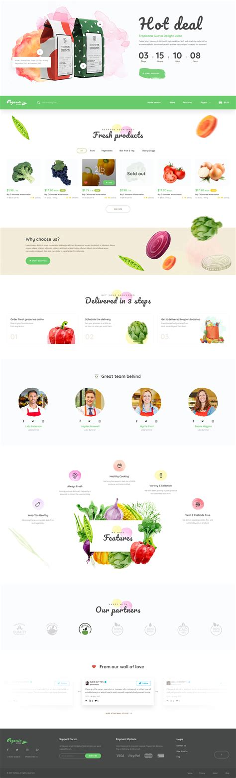 themeforest organic food organic store organic food psd template by