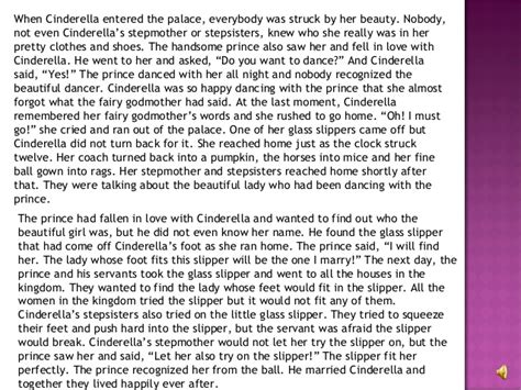 Cinderella Essay by Elements Of A Fairytale