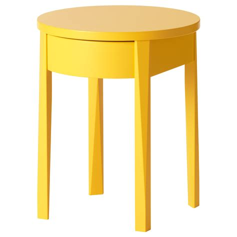 Ikea Side Table Stockholm Bedside Table Yellow 42x42 Cm Ikea