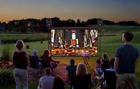 backyard theater outdoor entertainment system cool stuff