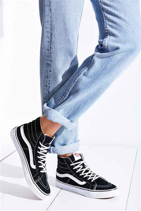 Vans Sk8 High Black Navy vans sk8 hi slim sneaker outfitters