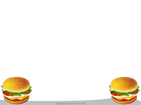 Free Hamburger Backgrounds For Powerpoint Foods And Drinks Ppt Templates Food Background For Powerpoint