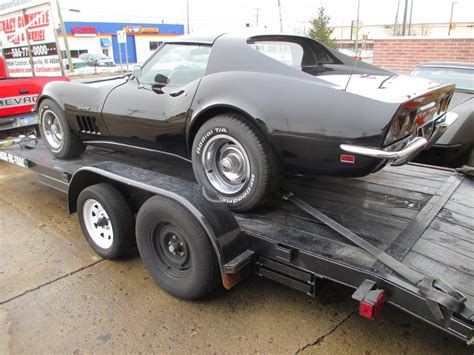 1969 black corvette coupe 350 350 4 speed project car with