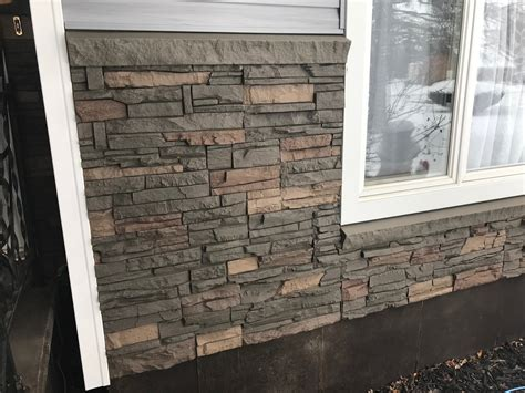 Stone wall in dining room