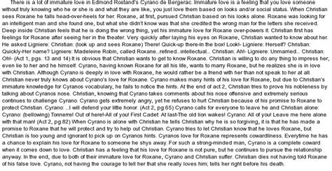 Cyrano De Bergerac Essay by Cyrano De Bergerac And Immature At Essaypedia