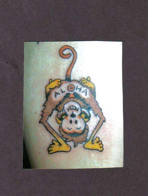 aloha monkey tattoo aloha monkey 109991 monkey design