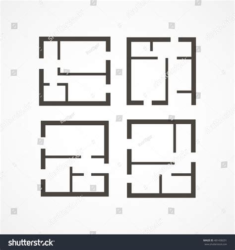 icon floor plans floor plan icons stock vector 481438291 shutterstock