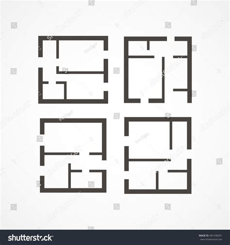 Floor Plan Icon by Floor Plan Icons Stock Vector 481438291 Shutterstock