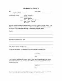 discipline form template doc 600560 employee discipline form employees write up