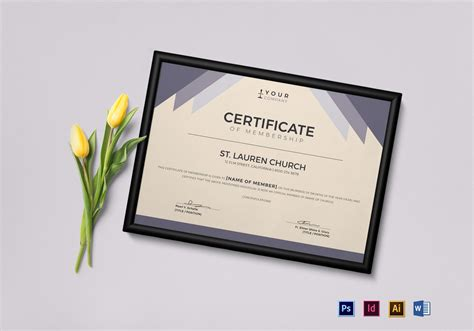 church membership id card template church membership certificate design template in psd word