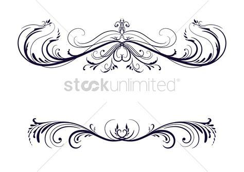 black pattern header vintage header and border design vector image 1506933