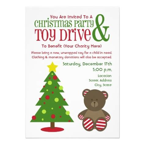 Christmas Party Toy Drive Invitation Toys For Tots Email Template