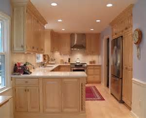 maple cabinets light countertop dining kitchen