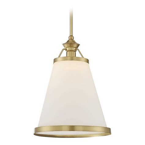 Savoy Pendant Lights Savoy House Lighting Ashmont Warm Brass Pendant Light With Conical Shade 7 130 1 63