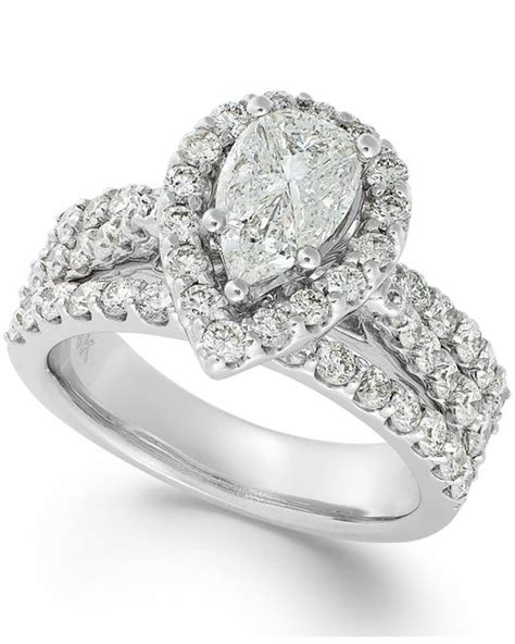 macy s engagement ring in 14k white gold 2 3 8 ct