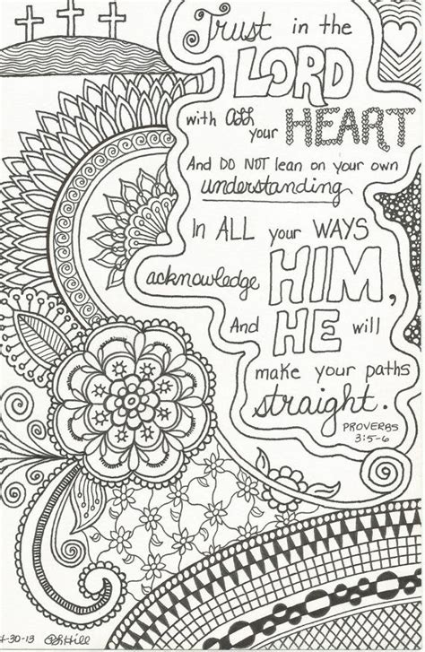 a doodle free free coloring pages of proverbs 3 5 6