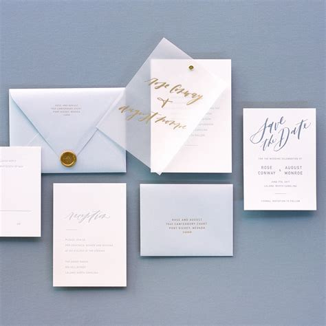 wedding invitations using vellum paper trendspotting vellum inspiration
