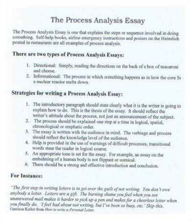 process analysis thesis statement exles analysis essay template 7 free sles exles