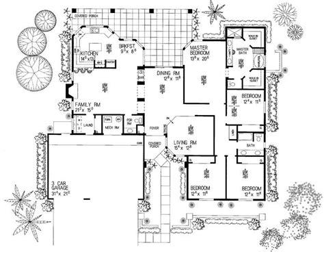 workshop layout in spanish southwest spanish house plans home design hw 3423 18445