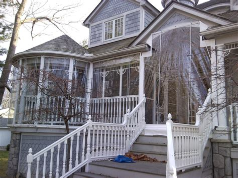 roll up awnings porch harbor awning clear vinyl porch enclosure youtube