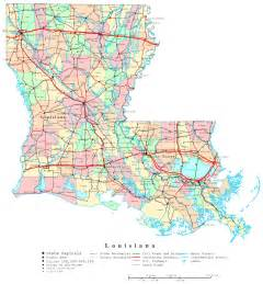 louisiana driving map louisiana printable map