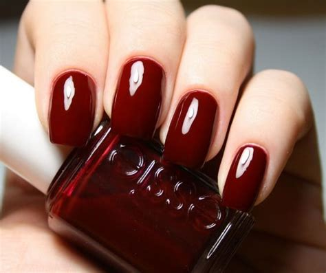 dark nail colors for over 50 dark red nails nail colour and red nails on pinterest
