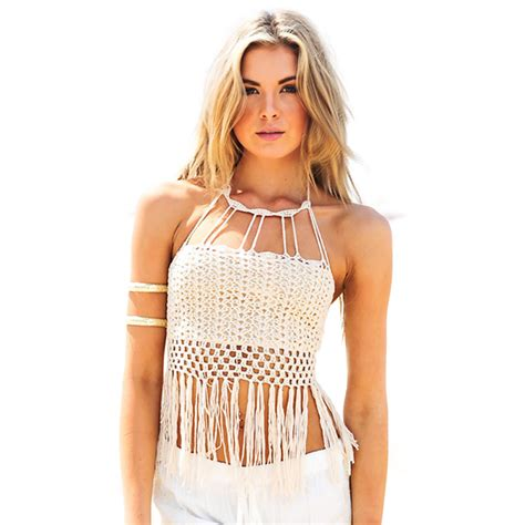 knit swimwear 2015 europe and crochet knit tassel swimwear biquini