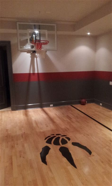 basement basketball court indoor basketball court modern basement toronto by total sport solutions inc