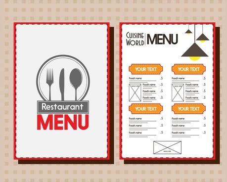restaurant menu and background design stock vector rekaa 12724808