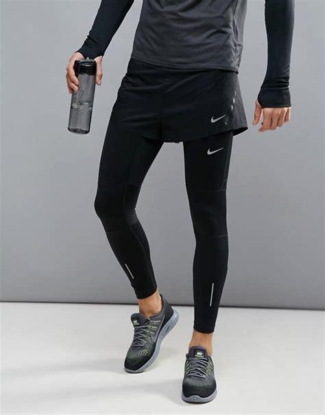 Shortpants Legging Nike Black For Running Fitness nike running nike running aeroswift 2 race shorts in black 717877 010