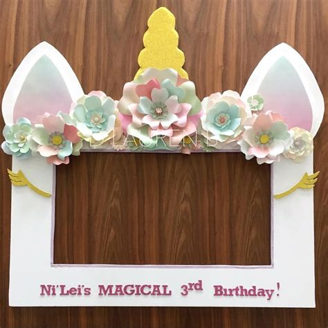 themed photo frames unicorn theme selfie photo booth frame prop