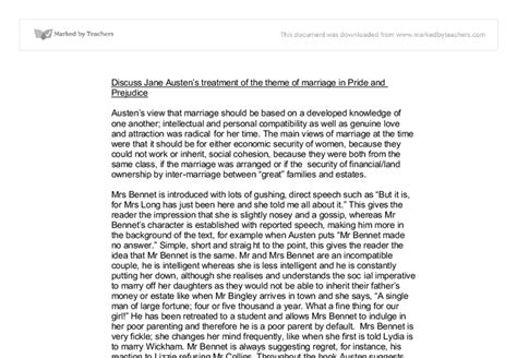 pride and prejudice themes gcse discuss jane austen s treatment of the theme of marriage